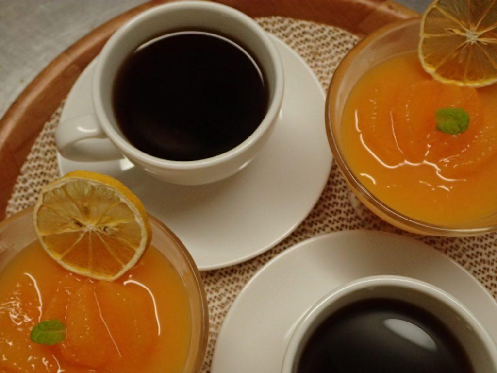 さっぱりとしたオレンジゼリー!