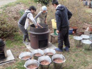 味噌作り&山菜採りワークショップ、楽しく終了しました~!