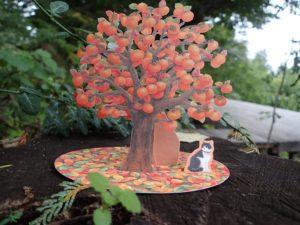 たわわに実る柿の木は、農楽母さんのあこがれです!
