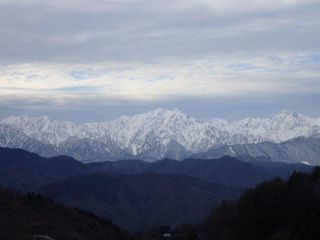 北アルプスの雪景色